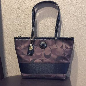 Coach (F20018) Signature C multi brown tote